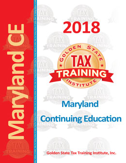 Maryland Tax Return Preparer Continuing Education